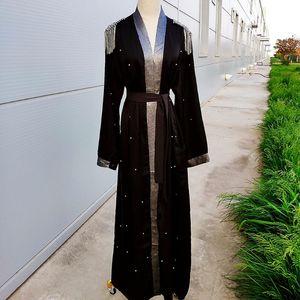 Ramazan Eid Abaya Kimono Dubai Türkiye Hicap Müslüman Elbise Kaftan Marocain Kaftan İslam Giyim için Kadınlar Islam Robe musulman