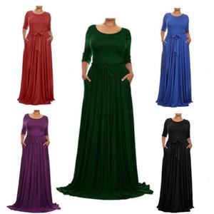 2019 New Prom Dresses Women Big Size Long sleeved dress Evening Dresses
