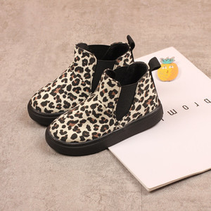 2020 Children Brand Martin Boots Kids Leopard Print Snow Boots Boys and Girls Casual Shoes Child Luxury Flat Shoes 2020 New Fashion