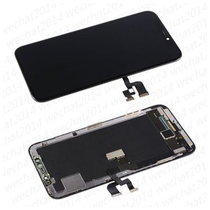 50PCS High Quality OLED LCD Display Touch Screen Digitizer Assembly Replacement Parts for iPhone X Xs Xr free DHL