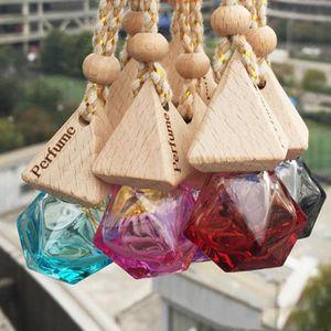 Car Perfume Bottle Pendant Essential Oil Diffuser 9 Colors Bag Clothes Ornaments Air Freshener Pendant Empty Glass Bottle Perfume R1328