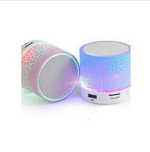 الصمام A9 المحمولة اللاسلكية بلوتوث المتكلم مصغرة الأيدي خالية الكراك سماعات بلوتوث دعم الموسيقى USB مع أضواء للهواتف الذكية فون
