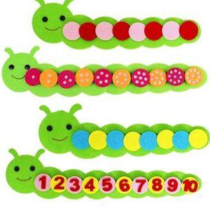 Montessori Math Spielzeug Kinderspiel Farbe Sorting Teaching Kindergarten Handbuch DIY Tuch weben Early Learning Bildung Kinder Spielzeug