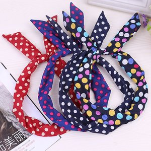Circular hair spray hoop a small bow tie super germination of ornaments with bunny ears headband