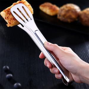 Нержавеющая сталь Зубчатый барбекю Щипцы с силиконовым Cooking Щипцы кухни Пищевое зажим Обслуживание Щипцы Easy Clean для Растительное барбекю торт хлеб