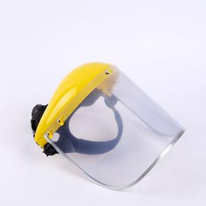 Бесплатная доставка DHL Safety Face Shield Eye Head Protection с храповиком регулируемые маски прозрачный оттенок анти-туманное покрытие для унисекс 2 цвета X76FZ