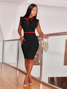 Sexy Women Summer Fashion Red Black Dress Skinny Casual Sleeveless Party Club Dress Plus Size S-3XL