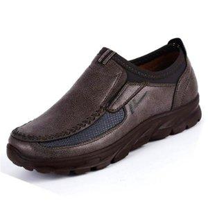 2019 İlkbahar Deri Sürüş Outdoor Walking Casual Ayakkabı Sneakers Erkek Loafers Ultralight Nefes Artı boyutu ayakkabı Mens