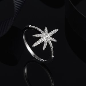 European and American classic allaround fashion temperament star octagon star ring female trendsetter meter word joint ring