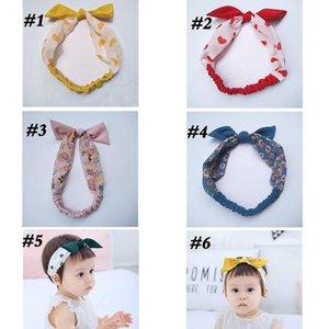 2020 INS Fille Coiffe Bébé arc Accessoires cheveux lapin oreille HeadHand bébé polka d'enfants parsèment frais hairband 6 couleurs