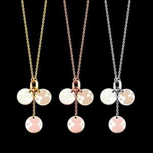 2020 designer Necklace V letter three round brand four leaf pollen Oil Drop Necklace women V letter necklace