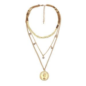 Mehrschichtige kreuz jungfrau maria anhänger kette christian neckalce göttin katholischen choker halskette collier für frauen