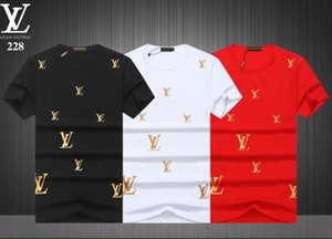 Горячие продажи моды Brand Icon футболки мужчин Повседневный печати с иконкой Hip Hop хлопка с коротким рукавом майка 3XL-1119