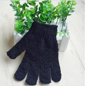 epacket бесплатная доставка Black Peeling Glove Scrubber банное полотенце, купальные перчатки, пять пальцев нейлон прочный двусторонний пилинг