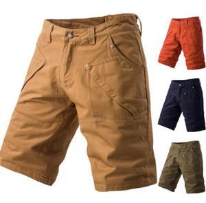 Erkek Spor Şortlar 2019 çok cepli beş pantolon şeker renk erkek tulum büyük boy pantolon rahat şort erkek Ücretsiz Kargo 6088