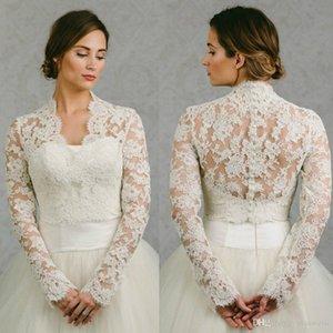 Bolero Bridal Lace Cape Long Sleeves Bridal Wrap Appliqued Jackets Wedding Capes Wraps Bolero Jacket Wedding Dress Wraps Plus Size