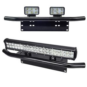 Black Aluminum Alloy Auxiliary Bar Type Car Bumper License Plate Work Lamp Bracket Holder for SUV Car Trunk