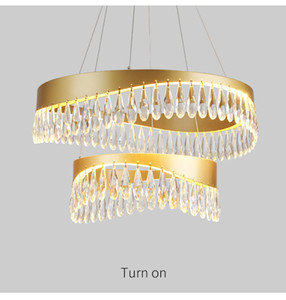 Crystal Black Chandeliers Gold Chandelier Lighting Hang Lamp Cristal Luster Kitchen Island Led lights Indoor Light Fixtures