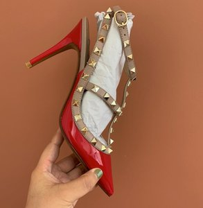 2019s Livraison gratuite Nouvelles femmes mode de mariage pointes cuir Bourgogne Poined Orteils de talons hauts de chaussures à talons aiguilles Slingback POMPES