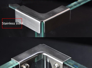 90 Degree Glass Tile Acrylic Display Frame Connector Glass Clamp Fixed Clamp Glass Hardware Fittings L-T
