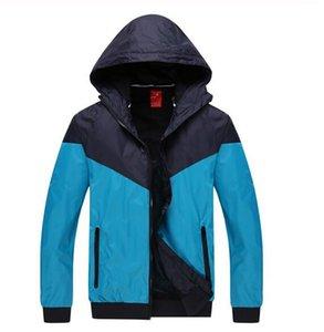 Мода-Athletic Мужчины Женщины куртка осень Повседневная одежда спортивная одежда Ветровка с капюшоном на молнии Up пальто Азиатский размер нужно два размера UP