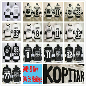 2019-20 Los Angeles Kings 90 Época Heritage # 8 Drew Doughty 11 Anze Kopitar 77 Jeff Carter 32 Jonathan Quick 99 Wayne Gretzky Hockey Jerseys