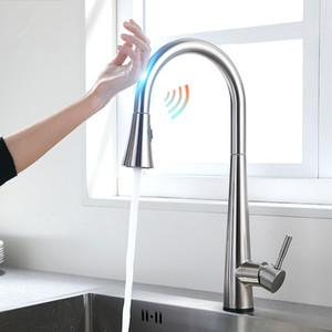 Нержавеющая сталь смесители для кухни torneira para cozinha de parede кран для кухни фильтр для воды кран три способа раковина смеситель бесконтактный