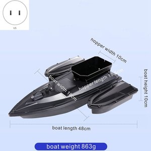 500M RC Distacne Auto RC Remote Control Fishing Bait Boat Speedboat Fish Finder Ship Boat LED Boat Searchlight