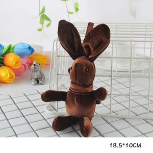 Presente Xmas Coelho KeyChains Pendant Crianças Plush Toy Coelho Ornamento Início Rabbit Fur Bolsa Keychain Pom Poms Chaveiro Telefone