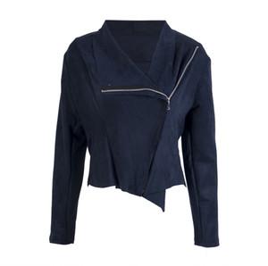 Women Punk Slim Biker Motorcycle Short Zipper Jacket Lapel PU Leather Outwear coat female jacket plus size S to 2XL