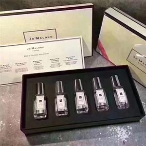 2019 NOVO Jo Malone Colônia 5 pcs set para homens fragrância portátil conjuntos de longa duração cavalheiro perfume define top cheiro 9 ml * 5.