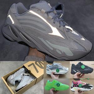 Taille 13 avec la boîte Stock X 2020 hôpital Blue 700 3M Reflective Mens Designer Chaussures de course vague Runner Femmes Sports entraîneurs des espadrilles 36-48