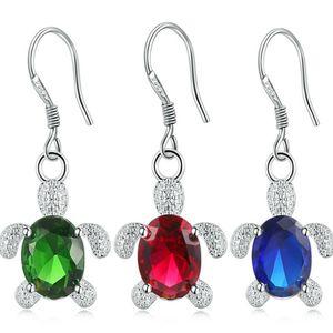 Bonito Romantic Mulheres Crystal Turtle prata Gota Mulheres Festa Brinco Dating Todos os dias usar jóias