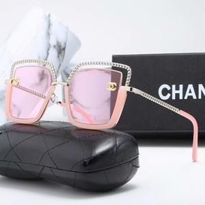 2020 NEW Luxury Sunglasses Women Plastic Vintage 6 Color Lens Glasses Retro Outdoor Travel Lentes De Sol Mujer 1823.