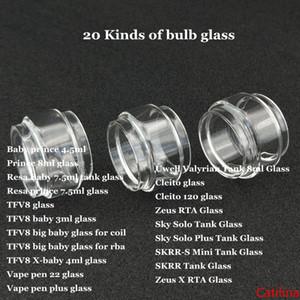 Fat Estendere Lampadina Bubble tubo di vetro per il principe Resa TFV8 bamboccione RBA X-baby Vape penna 22 più Cleito 120 Sky Solo Plus SKRR-S Mini Zeus X DHL