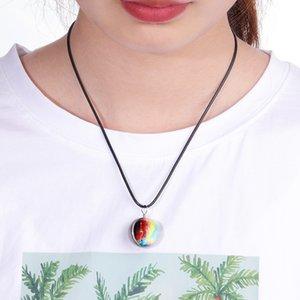 Gioielli in vetro tempo palla pendente della pietra universo fatto a mano personalizzabile collana della stella per le donne Sky Dream stellato pendente Double-Sided Gift-Z