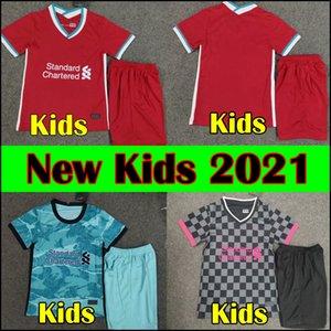 2021 Salah LVP kids top kit 19 20 21 HENDERSON MINAMINO MANE soccer jersey VIRGIL ELLIOTT football kit ADRIÁN FIRMINO kids sets