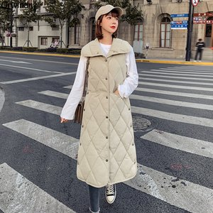 Orwindny neuer Winter-Weste-Frauen-beiläufige Herbst-Winter-Sleeveless Jacken-Mantel mit Kapuze lange Weste Warm Cotton Tops Vest Outwear