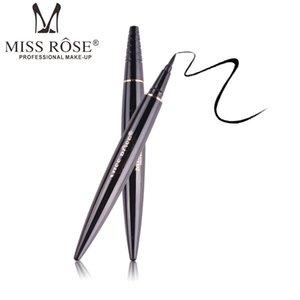 auf Lager! Großhandel MISS ROSE Schwarz Liquid Eyeliner Bleistift Makeup Wasserdicht Langlebige Anti-Blooming Accurate Draw Eye Liner Pen Makeup