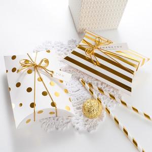 Nuevo Favor Candy Box Bag Craft Paper Pillow Shape Boda Favor Cajas de regalo Party Box bolsas Baby Shower Gift Packaging Boxes