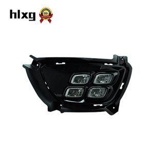 HLXG DRL For kia sportage R Daytime Running Light Four eye Light Daylight Sourse Car styling Accessories Assembly Fog lamp