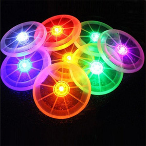 Al por mayor- Colorido Frisbee UFO Kid Toy Spin LED Light Outdoor Toy Flying Saucer Disc Educational UFO Children Beach toys Toy Sports