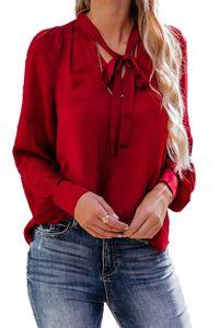Designer Women Shirts Casual Pure Color Long Sleeve Loose Chiffon Blouses Ladies Shirts Fashion Women Clothes