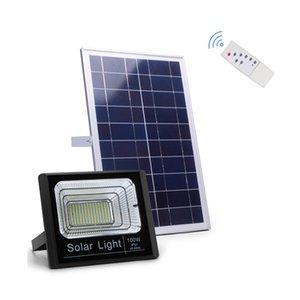 Uzaktan Kumanda Switch sayesinde Güneş Enerjili Sokak Taşkın Işık 10W 25W 40W 60W 100W 200W 300W IP65 su geçirmez Güneş Taşkın Işıklar