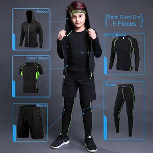 Kids Sport Running Suit Children Sports Set Jogging Soccer Underwear Sportswear Gym Tights Pants Boys Tracksuit Training Jacket