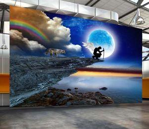 Beaux paysages Fonds d'écran Mmeoon Night Beau Mur de fond de TV Paysage créatif
