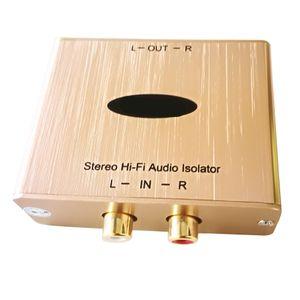 Freeshipping Stereo Hum Eliminator RCA Audio Buzz Isolator Salut-Fi Audio Noise Tueur stéréo Filtre audio au sol