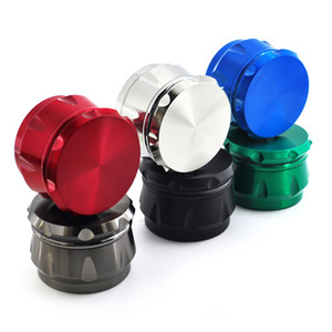 High Quality Rainbow Chamfer Herb Grinder Drum Shape 4 Layers 40mm Diameter Color Zinc Alloy Tobacco Crusher Metal Grinders logo