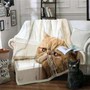 Одеяло Cat Mantas Para Диван Decorativa Throw Одеяло Colcha De Cama Casal Руно Декан Frazadas De Polar Перевозка груза падения