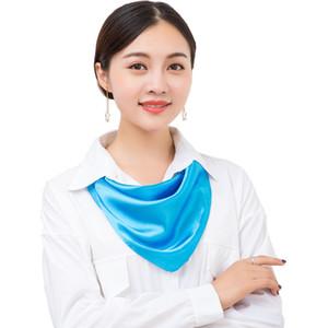 Готовый фондовый фарфор шарф рынка 60 * 60 см квадратный шарф дешевый атласный шарф для малайзийских дам платки головной убор